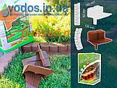 Палисад Газонный темно-коричневый 2,1 метра - декоративный садовый бордюр Palisada MIDI Plus (Польша)