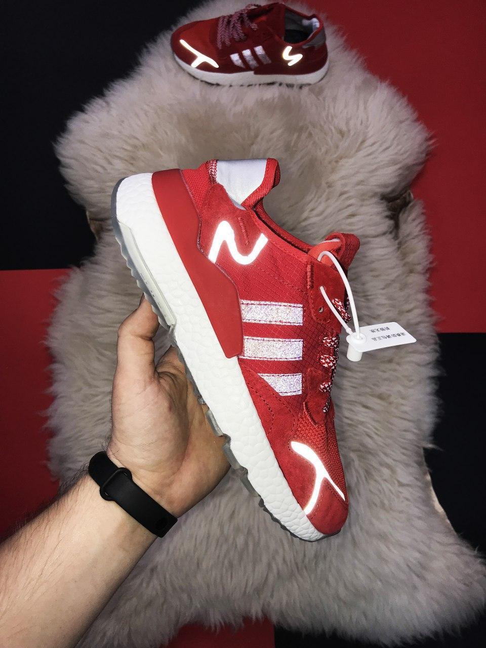 🔥 РЕФЛЕКТИВ 🔥 Кроссовки Nite Jogger Red White Найк Джоггер Красный🔥 Найк мужские кроссовки 🔥
