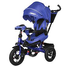 Велосипед трехколесный TILLY Impulse T-386 с пультом и усиленной рамой, синий