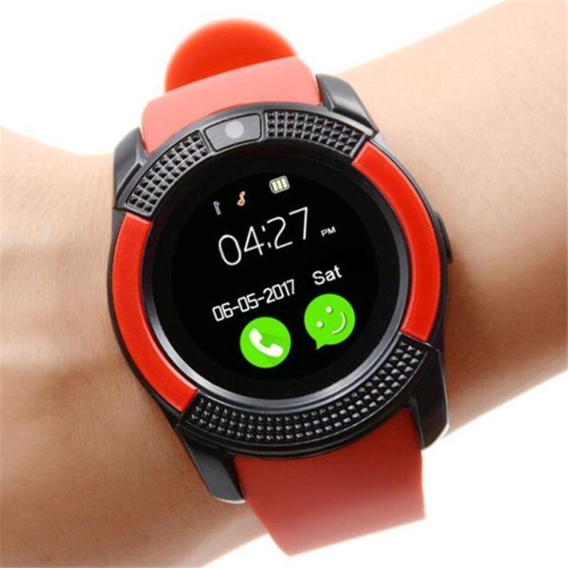 Сенсорные Smart Watch V8 смарт часы умные часы КРАСНЫЕ ave