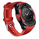 Сенсорные Smart Watch V8 смарт часы умные часы КРАСНЫЕ ave, фото 2
