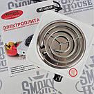 Электроплита 1 комфорка, спиральная, WimpeX WX-100B-HP, мощная плита ave, фото 4