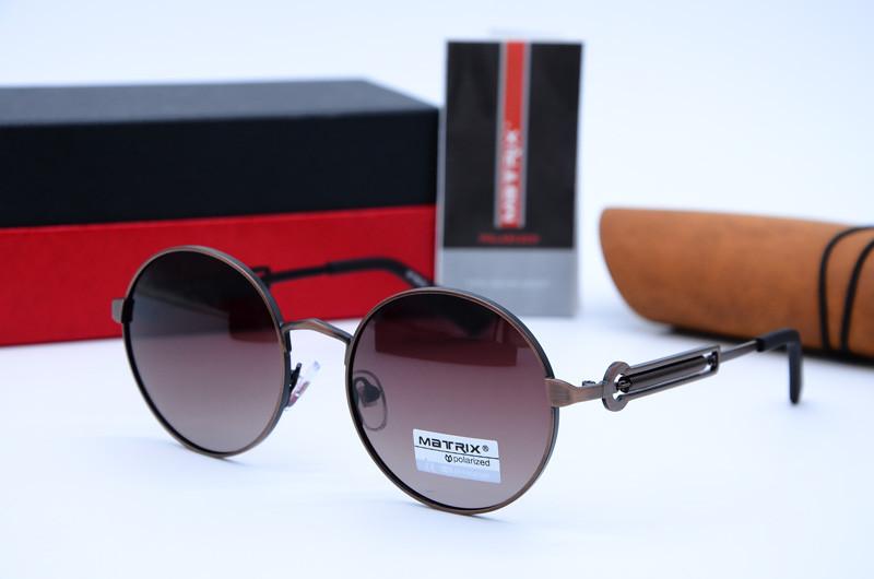 Сонцезахисні чоловічі круглі окуляри Matrix 8620 с48-Р94