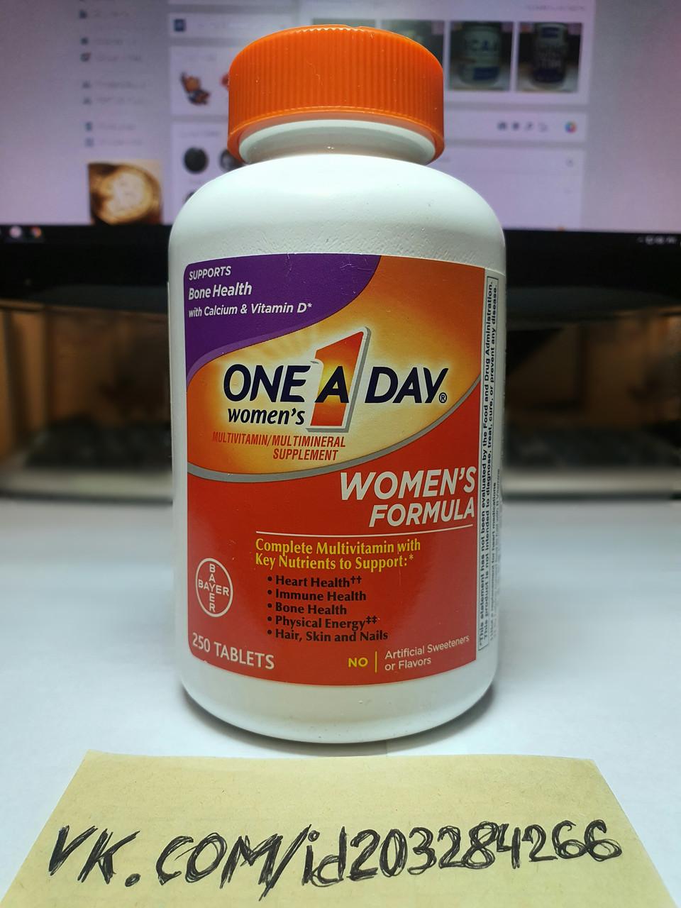 Витамины для женщин Bayer One A Day Women's Formula 250 tabl