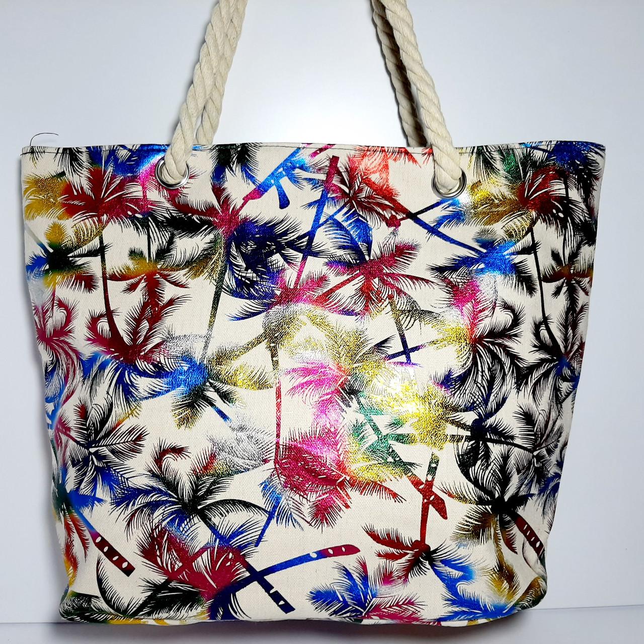 Пляжная текстильная летняя сумка для пляжа и прогулок