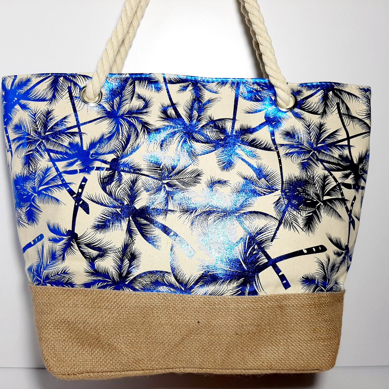 Пляжная текстильная летняя сумка