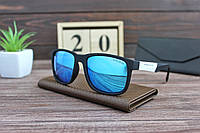 Мужские солнцезащитные очки Хьюго Босс черно-белые с синими линзами, фото 1