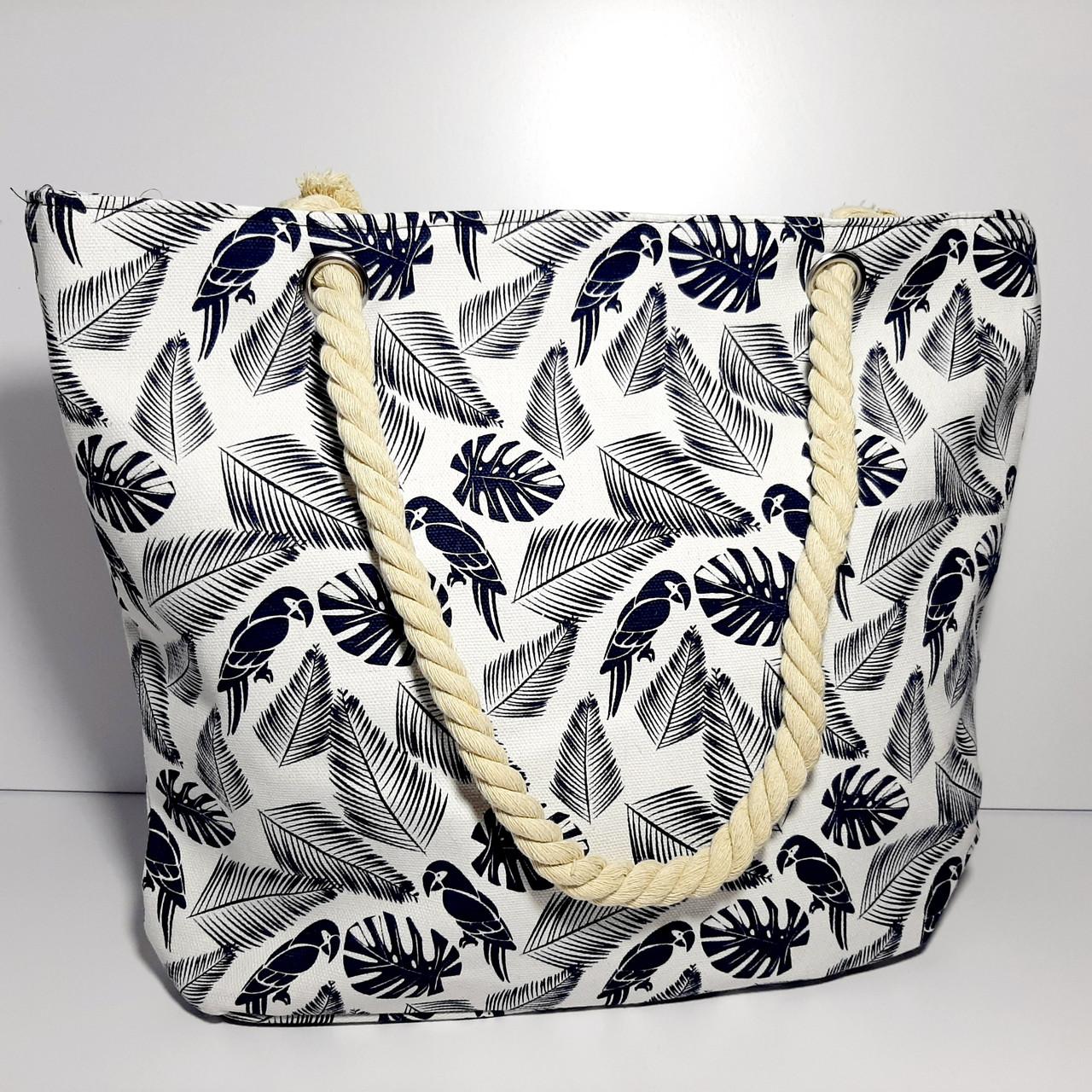 Пляжна текстильна літня сумка для пляжу і прогулянок