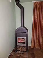 Отопительная печь камин на дровах ( каминофен ) Haas+Sohn Vaasa Plus 3 ( Серебристая шляпа ), фото 1