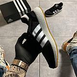 🔥 ВИДЕО ОБЗОР 🔥 Кроссовки Adidas Iniki Black White Адидас Иники 🔥 Адидас женские кроссовки 🔥, фото 2
