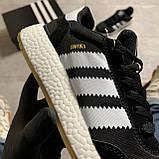 🔥 ВИДЕО ОБЗОР 🔥 Кроссовки Adidas Iniki Black White Адидас Иники 🔥 Адидас женские кроссовки 🔥, фото 5
