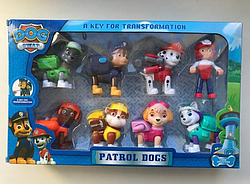 Детский набор (8 в 1) DOG SWAT Щенячий Патруль Герои-спасатели ave