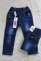 Утепленные джинсы для девочки на 2 года