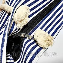 Пляжная сумка тёмно синяя полоса опт и розница, фото 2