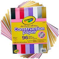 Цветная бумага Крайола, в наборе 96 листов, 8 цветов, Crayola