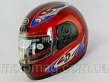 Шлем с подбородком (с воротником) красный