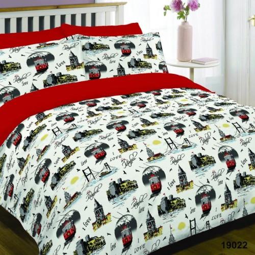 Двуспальный Комплект постельного белья Viluta Ранфорс 19022