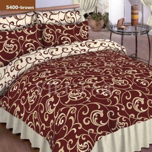 Двуспальный Комплект постельного белья Viluta Ранфорс 5400 коричневый