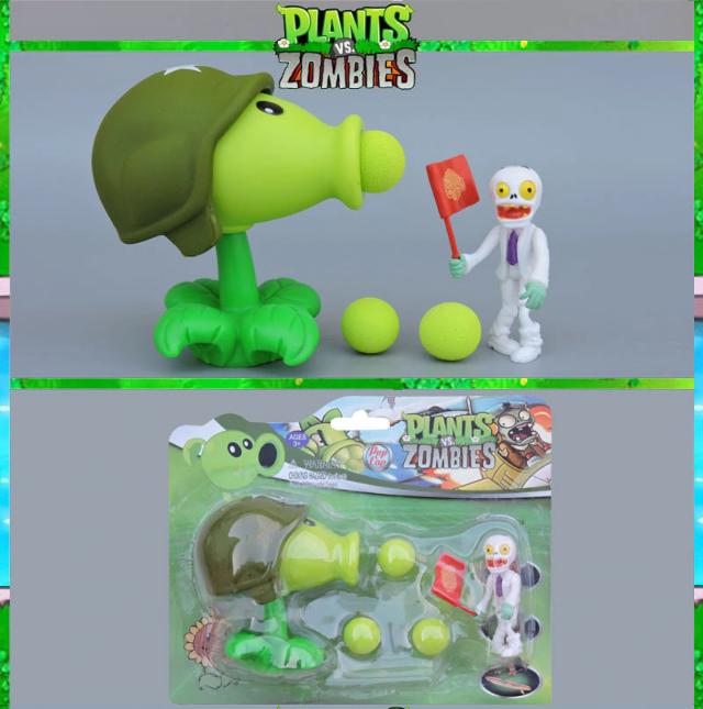 Игрушка Растения против зомби Пулеметчик Фирменная упаковка Plants vs zombies