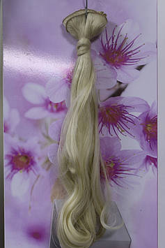 Искусственные волосы на заколках термоволокно натуральный блонд