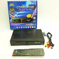 Комбинированный T2 тюнер и Спутниковый ресивер DVB-S2/T2/С HDMI CORALSTAR CS-303 TS PRO HD Combo черный