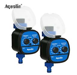 2x Таймер для полива с  шаровым клапаном и возможностью отложенного старта Aqualin 21049