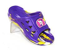 Фиолетовые шлепанцы для девочки, фото 1