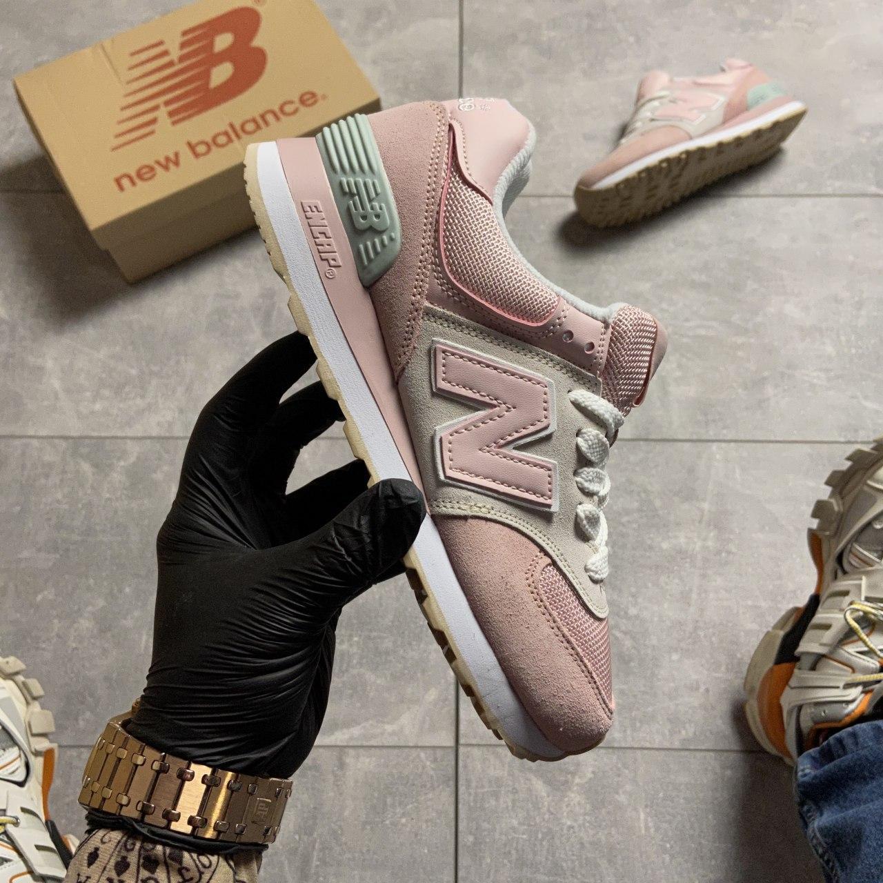🔥 Кроссовки New Balance 574 Pink Suede Розовый 🔥 Нью Бэланс 🔥 Нью Беленс женские кроссовки🔥