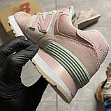 🔥 Кроссовки New Balance 574 Pink Suede Розовый 🔥 Нью Бэланс 🔥 Нью Беленс женские кроссовки🔥, фото 4