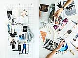 Настенный органайзер Мудборд (moodboard) доска визуализации и планирования, Прямоугольная 30*60 см, белый, фото 3
