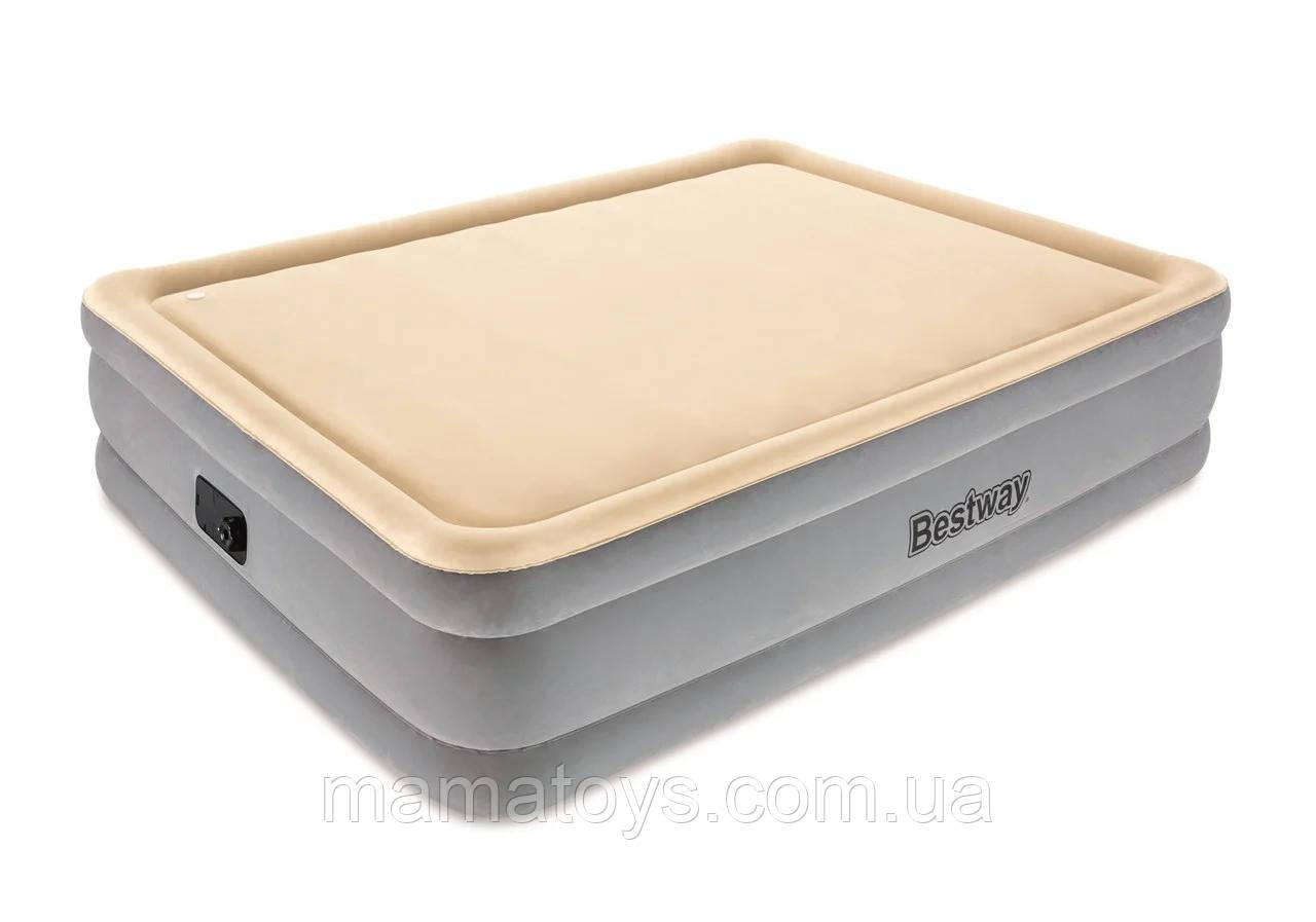 Надувная Кровать Бествей BW 67486со Встроенным электронасосом Размер 163-203-48 см BestwayFoam. Top Comfort