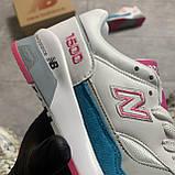🔥 Кроссовки New Balance 1500 White Blue Голубой Белый Розовый 🔥 Нью Бэланс 🔥 Нью Беленс женские кроссовки🔥, фото 6