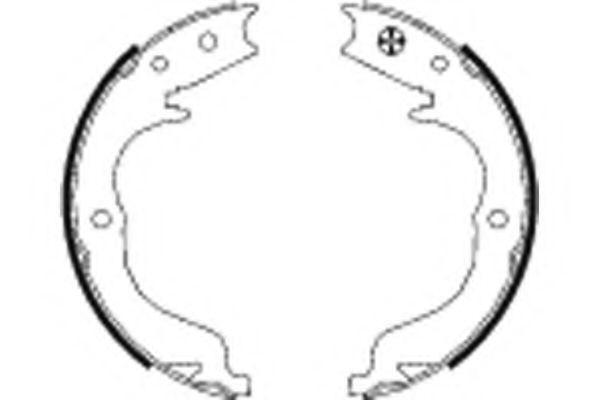 Тормозные колодки барабанные Hella 8DA355050041