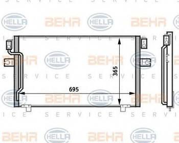 Радиатор кондиционера Hella 8FC351024171
