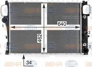 Радиатор охлаждения двигателя Hella 8MK376700614