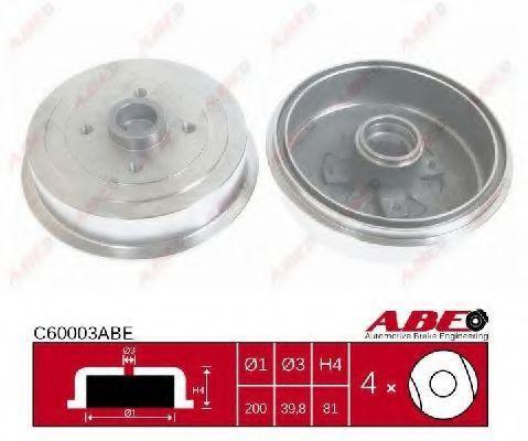 Барабан тормозной ABE C60003ABE