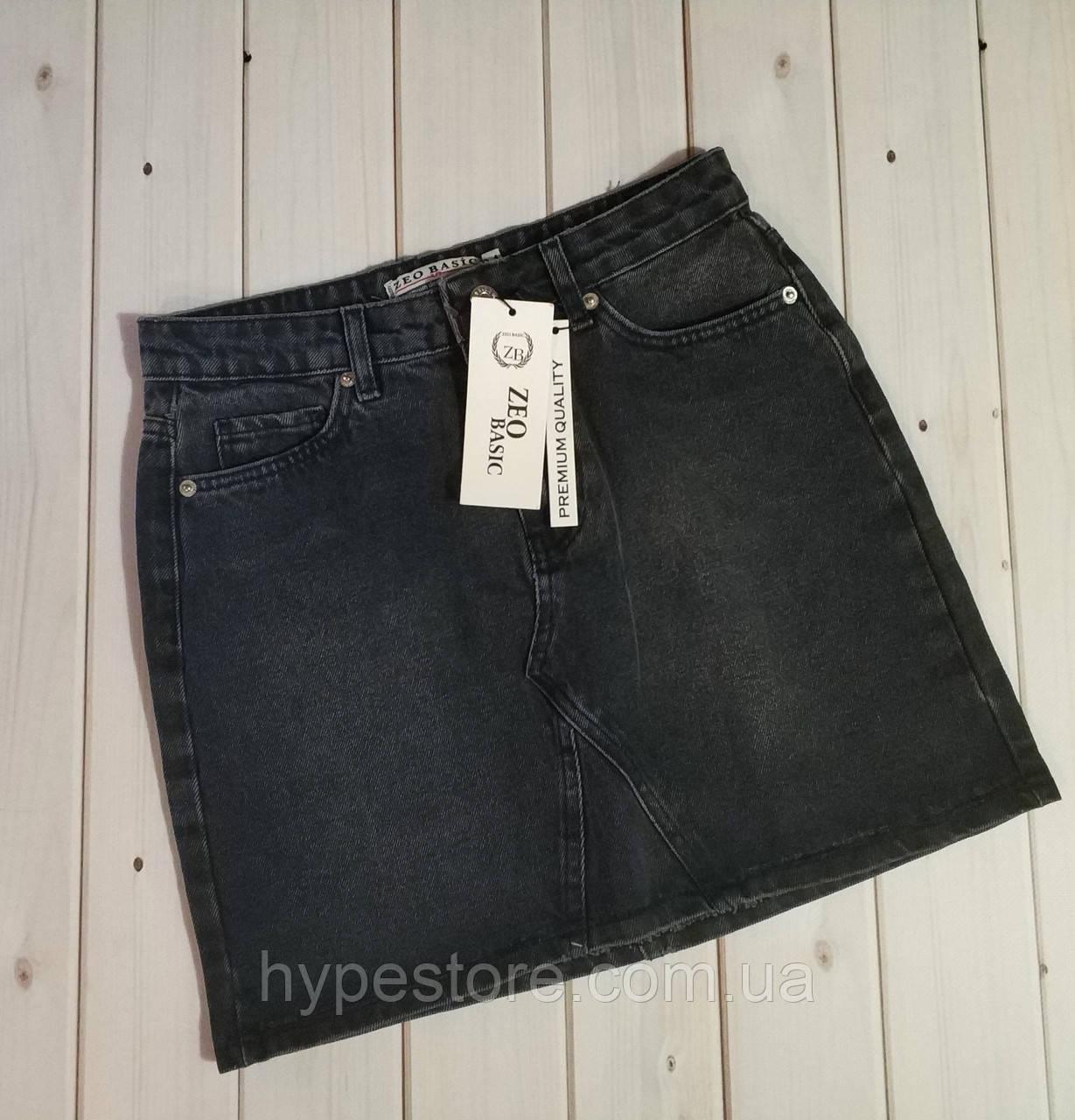 Джинсовая юбка черного цвета, Турция ,см.замеры в описании