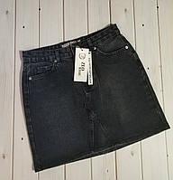 Джинсовая юбка черного цвета, Турция ,см.замеры в описании, фото 1