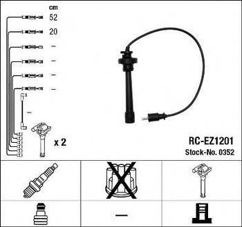 Комплект проводов зажигания NGK 0352