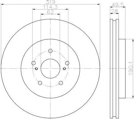 Диск тормозной ADVICS A6F115