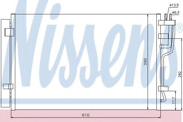 Радиатор кондиционера Nissens 940006
