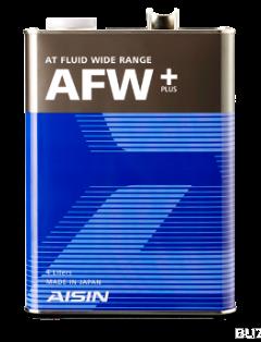 Масло трансмиссионное полусинтетическое ATF Wide Range AFW+, 4л AISIN ATF6004
