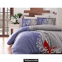 Комплект постельного белья R7427 blue, TAG(sem)-609