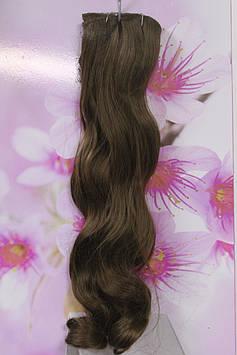 Волосы искусственные на заколках термоволокно волнистые русый