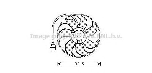 Вентилятор радиатора AVA AI7509