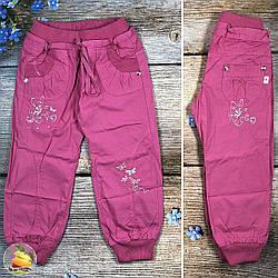 Брюки для девочки с манжетом и поясом на резинке Размеры: 3,4,5,6,7,8 лет (20333-1)