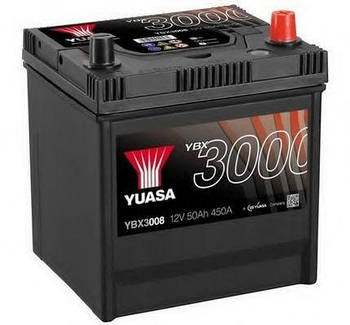 Аккумулятор ПРАВ [+] 12V 50AH 450A 202*173*225 YUASA YBX3008