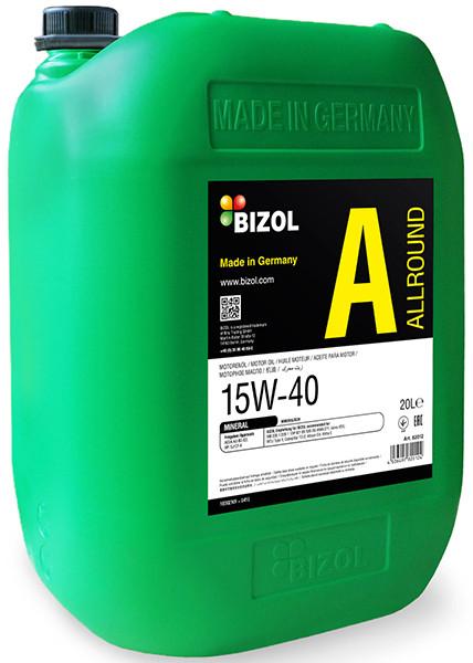 Масло моторное минеральное Allround 15W-40 20л Bizol B82012