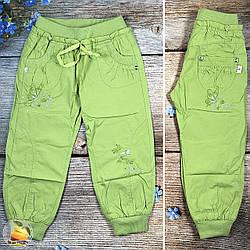 Летние брюки для девочки с поясом на резинке Размеры: 3,4,5,6,7,8 лет (20333-2)