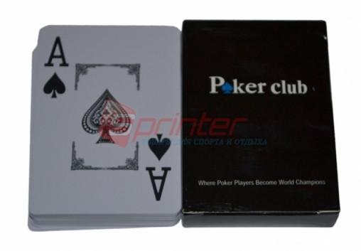 Карты для игры в спортивный покер. 54шт. (10 колод в упаковке).